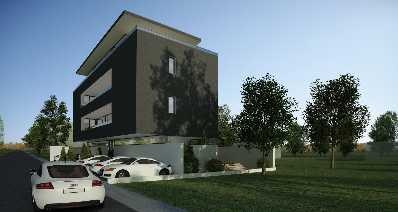 Proiect Imobil Rezidential cu 7 Apartamente Bucuresti | Concept Design bloc modern cod RBAB in Bucuresti, Sector 3 | Proiect din portofoliul CUB Architecture
