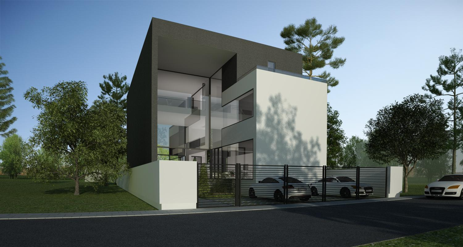 modern house in slobozia ialomita project from cub architecture portfolio - Casa Cub Moderne
