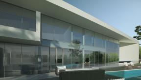 Proiect Locuinta Moderna si piscina pe teren ingust cod CAV Poiana Brasov
