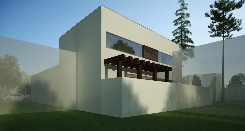 Locuinta unifamiliala moderna proiect finalizat casa for Casa moderna romania
