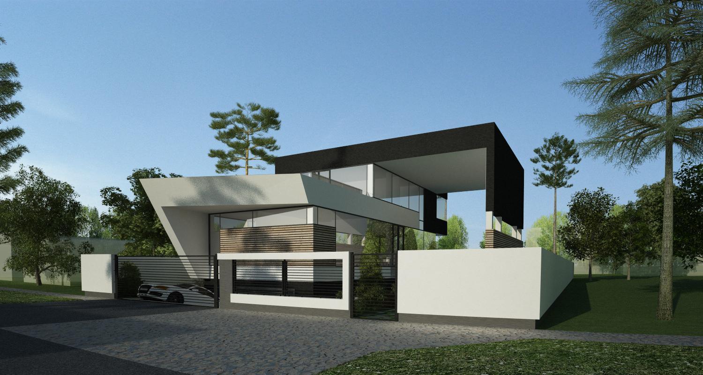 Proiect locuinta moderna concept design casa si piscina for Casa moderna piscina
