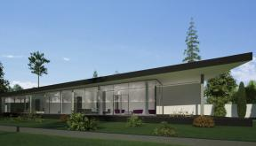 Proiect Locuinta Moderna Parter casa parter pe teren ingust cod DMM Mogosoaia Ilfov
