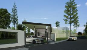 Proiect Locuinta Moderna Parter pe teren ingust cod DMM Mogosoaia Ilfov