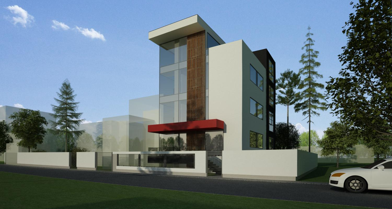 Pensiune Urbana cu 10 camere in Otopeni, Ilfov | Proiectare Finalizata pensiune cu 10 cemere in otopeni cod BCOP | Proiect din portofoliul CUB Architecture