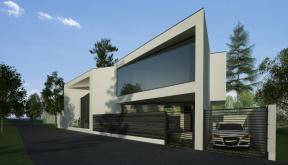 Proiect Locuinta Moderna casa pe teren triunghiular Iasi