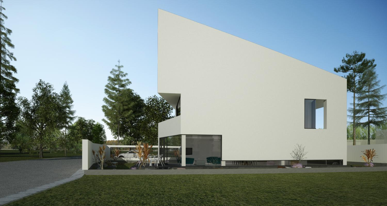 Proiect Casa Minimalista | Concept Design casa moderna pe teren ingust cod DDR in Sibiu, SB | Proiect din portofoliul CUB Architecture