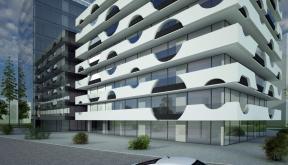 Ansamblu rezidential si comercial Vacaresti Bucuresti S4 Concept Design bloc de locuinte modern cu apartamente si spatii comerciale cod VCRB in Bucuresti S4 proiect cu subsol general pe doua nivele si 4 unitati distincte cu inaltimi diferite parter comerc