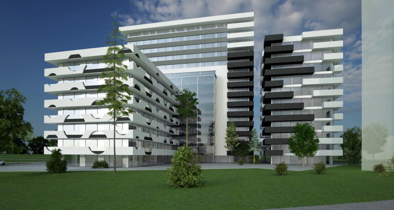 Ansamblu rezidential si comercial Vacaresti Bucuresti, S4 | Concept Design bloc de locuinte modern cu apartamente si spatii comerciale cod VCRB in Bucuresti  - proiect cu subsol general pe doua nivele si 4 unitati distincte cu inaltimi diferite; parter co