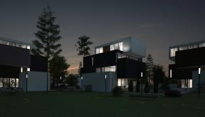 Ansamblu rezidential  cu 11 blocuri si zona verde in Blaj, jud. Alba | Concept Design ansamblu de blocuri de locuinte moderne cu apartamente cod MRBA in Blaj | Proiect din portofoliul CUB Architecture