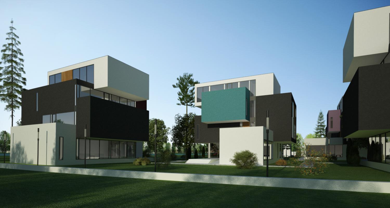Ansamblu rezidential  cu 11 blocuri si zona verde in Blaj, Alba | Concept Design ansamblu de blocuri de locuinte moderne cu apartamente si spatiu verde cu loc de joaca cod MRBA in Blaj, AB | Proiect din portofoliul CUB Architecture