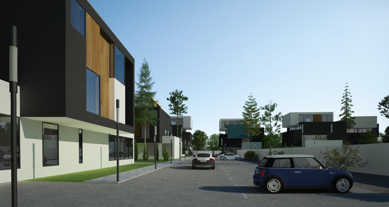 Ansamblu rezidential  cu 11 blocuri si zona verde in Blaj, Alba | Concept Design ansamblu de blocuri de locuinte moderne cu apartamente si spatiu verde cu loc de joaca cod MRBA in Blaj | Proiect din portofoliul CUB Architecture