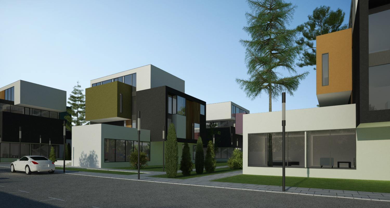 Ansamblu rezidential  cu 11 blocuri si zona verde in Blaj, jud. Alba | Concept Design ansamblu de blocuri de locuinte moderne cu apartamente cu loc de joaca cod MRBA in Blaj | Proiect din portofoliul CUB Architecture