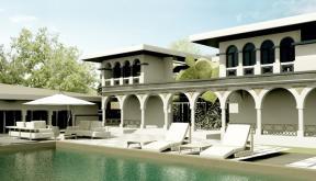 Proiect Imobil Neoromanesc Modern si Piscina Exterioara casa clasica stilizata si reinterpretata cod ATS Slobozia Ialomita