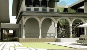 Proiect Imobil Neoromanesc Modern si Piscina Exterioara cod ATS Slobozia Ialomita