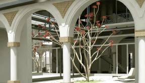 Proiect Imobil Neoromanesc Modern si Piscina Exterioara cod ATS Slobozia