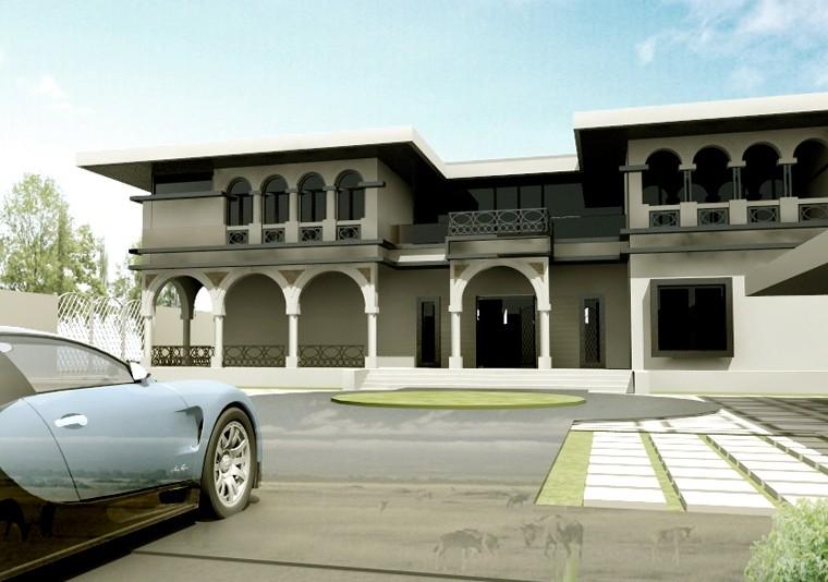 Proiect Imobil Neoromanesc Modern si Piscina Exterioara casa clasica stilizata cod ATS Slobozia Ialomita