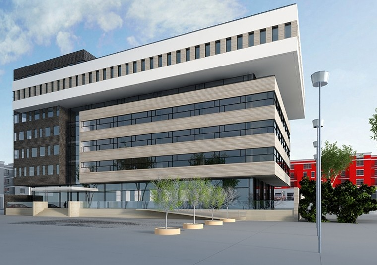 Proiect Imobil Cladire de Birouri Brasov, BV | Concept Design imobil de birouri modern cod OFBV in Brasov, BV | Proiect din portofoliul CUB Architecture