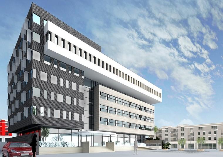 Proiect Imobil Cladire de Birouri | Concept Design imobil de birouri cod OFBV in Brasov | Proiect din portofoliul CUB Architecture