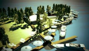 Proiect Centru Turistic Multifunctional Snagov | Concept Design Amenajare de teren si faleza lacului, cu activitati sportive si de recreere in Centru Turistic Multifunctional Snagov cod CTMS | Proiect din portofoliul CUB Architecture