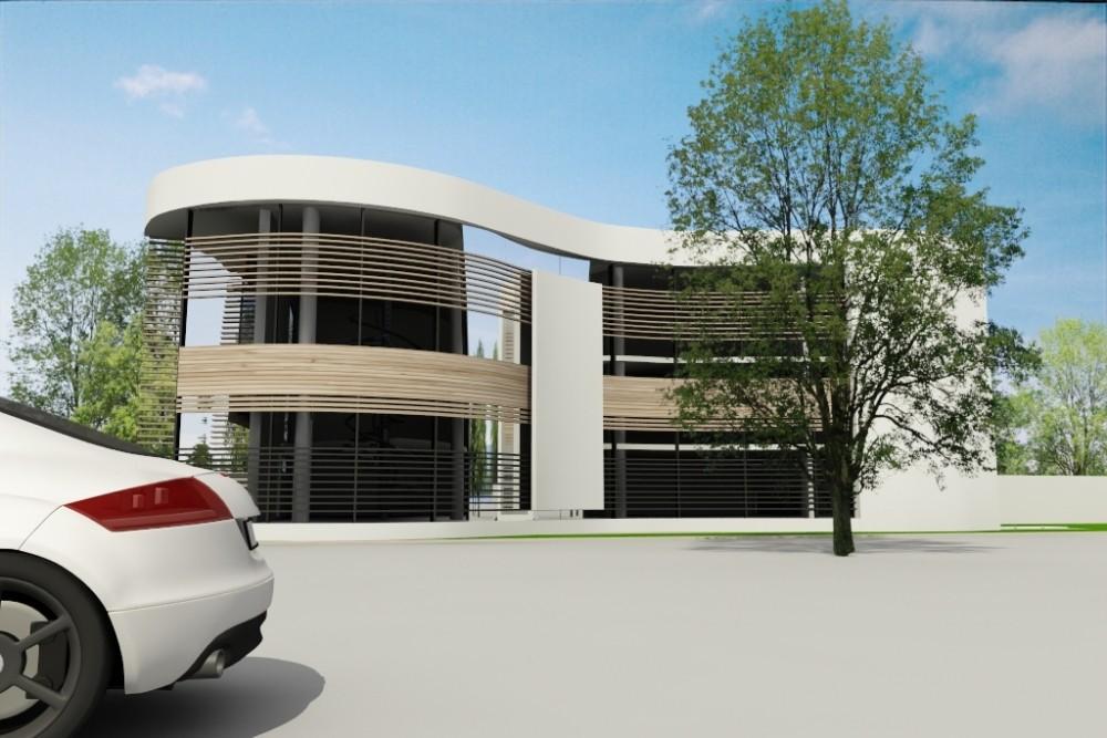 Proiect Locuinta Unifamiliala Moderna casa cu forme curbe cod DSA Bucuresti Sector 3