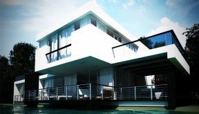 Locuinta Moderna casa pe malul lacului